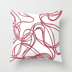 red tyre print Throw Pillow