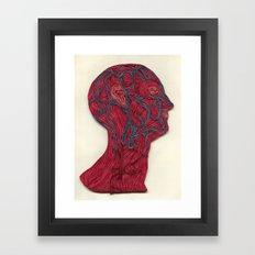 veins of the head Framed Art Print