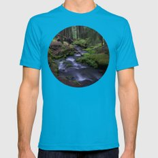 Dusk Mens Fitted Tee Teal SMALL