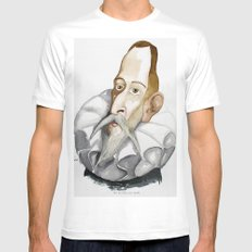 Cervantes White Mens Fitted Tee SMALL