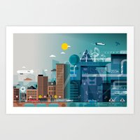 Back to the future ... Art Print