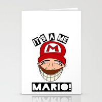 Psycho Mario Stationery Cards