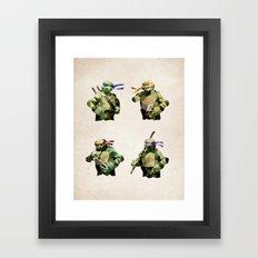 Polygon Heroes - TMNT Framed Art Print