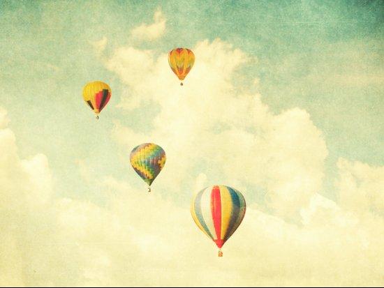 Drifting Balloons Art Print
