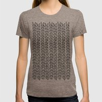 Knit Outline Zoom Womens Fitted Tee Tri-Coffee SMALL
