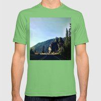 Round the Bend Mens Fitted Tee Grass SMALL