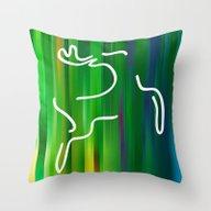 Flying Deer Throw Pillow