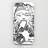 iPhone & iPod Case featuring Lybee Black & White by Nymboo