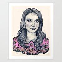Alison Brie Art Print