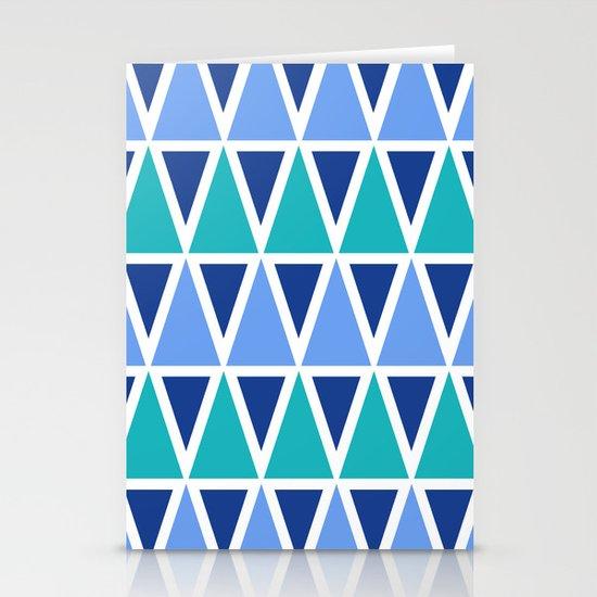 Tribal Pattern - Blue Stationery Card