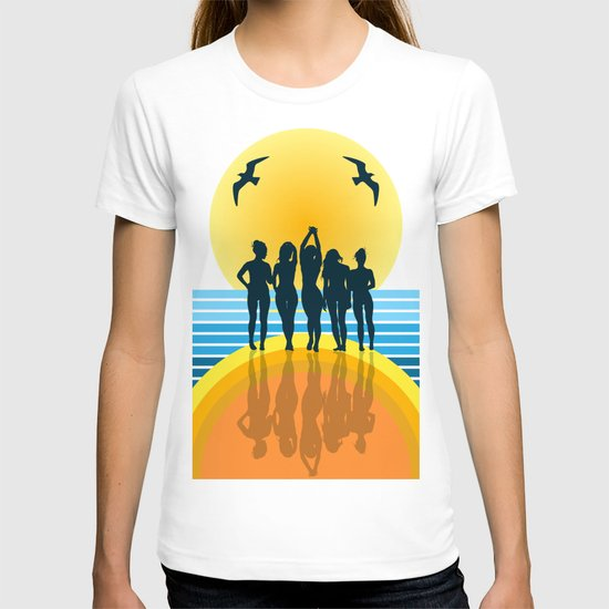 midnight on the beach  T-shirt