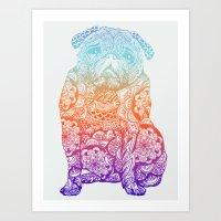 Mandala Pug  Art Print