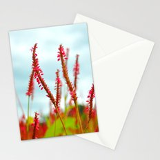 Vibrant Pink Wild Flowers Stationery Cards