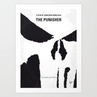 No676 My The Punisher minimal movie poster Art Print