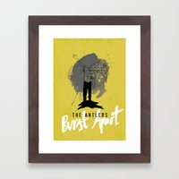 Burst Apart Framed Art Print