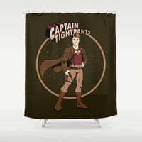Captain Tightpants Shower Curtain