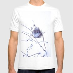 Traces of summer White SMALL Mens Fitted Tee