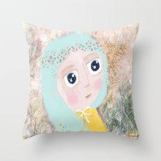 Dreamy girl Throw Pillow