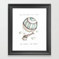 The higher you climb, the better the view Framed Art Print