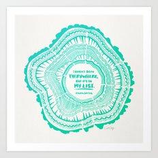 My List – Turquoise Ombré Art Print