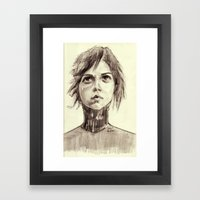Looking into a Blue Sky Framed Art Print