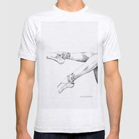 pointe shoes Mens Fitted Tee Ash Grey SMALL