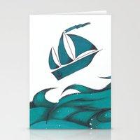 Poseidon Goddess of the Sea Stationery Cards