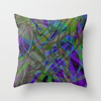 Colorful Abstract Stained Glass G301 Throw Pillow