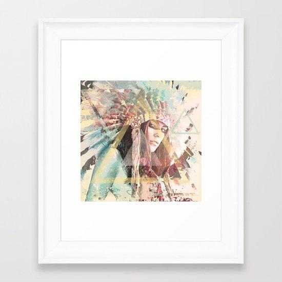 IND Girl Framed Art Print
