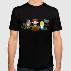 Kokeshis Alice in Wonderland SMALL Black Mens Fitted Tee