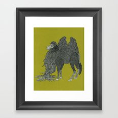 Camel Framed Art Print