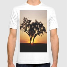 Sunset glow  Mens Fitted Tee White SMALL
