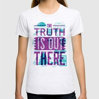 The Truth is Out There Womens Fitted Tee Ash Grey SMALL