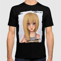 Namine.  Mens Fitted Tee Black SMALL