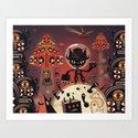 DJ Hammerhand cat - party at ogm garden Art Print