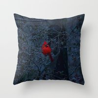 Color In The Dreary Throw Pillow