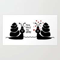 Snails Love Art Print