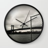 Wall Clock featuring Williamsburg by Michael S.