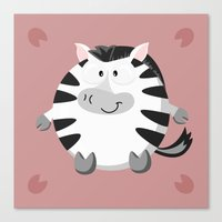 Zebra from the circle series Canvas Print