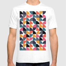 Quarter pattern SMALL Mens Fitted Tee White