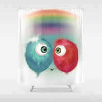 Hello Earthling - Love Shower Curtain