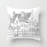 Weekend In Brugges Throw Pillow