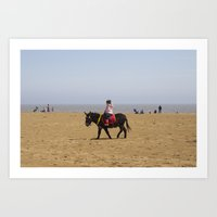 Donkey ride Art Print