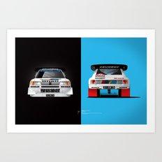 Group B Edition, N.º1, Peugeot 205 T16 E2 Art Print