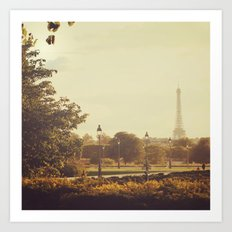 Springtime in Paris Art Print