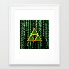 Triforce In Matrix Framed Art Print