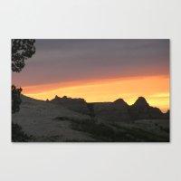 Badlands National Park at Sunset Canvas Print
