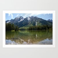 Grand Teton Leigh Lake Art Print