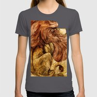 Une Crinière de Lion (the haughty and brilliant lion) Womens Fitted Tee Asphalt SMALL