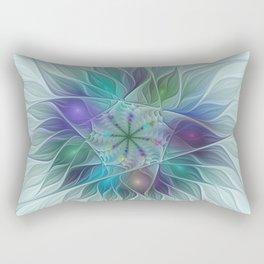 Rectangular Pillow - Colorful Fantasy Flower Fractal Art Abstract - gabiw Art